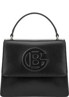 Маленькая черная сумка с тиснением Camilla Baldinini