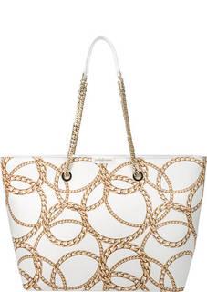 Вместительная кожаная сумка на молнии Taylor Baldinini
