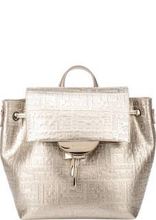 Золотистая сумка-рюкзак с тиснением Samantha Baldinini