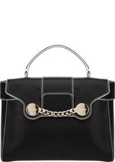 Кожаная сумка с откидным клапаном Zelda Baldinini