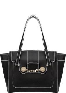 Вместительная кожаная сумка Zelda Baldinini