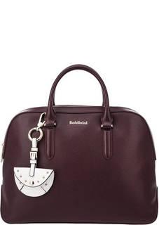 Фиолетовая кожаная сумка с короткими ручками Micol Baldinini