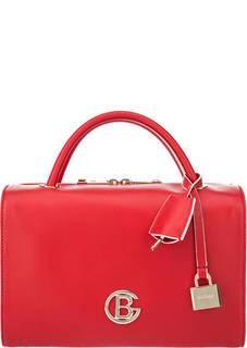Красная сумка с контрастной отделкой Becky Baldinini