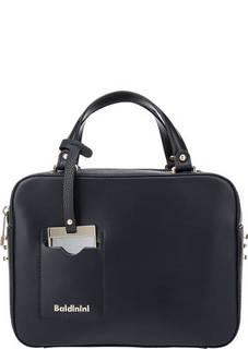 Синяя кожаная сумка с двумя отделами Jasmine Baldinini