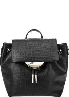Черная сумка-рюкзак с тиснением Greta Baldinini