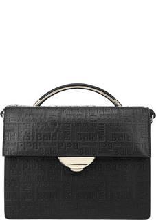 Черная сумка с широким плечевым ремнем Greta Baldinini