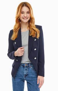 Двубортный пиджак синего цвета Vero Moda
