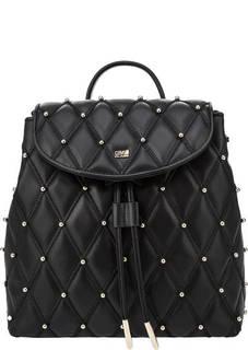 Стеганый кожаный рюкзак с металлической отделкой Jolie Cavalli Class