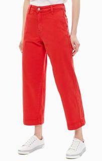 Широкие джинсы красного цвета Wide Leg Lee