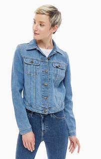 Короткая джинсовая куртка синего цвета Lee