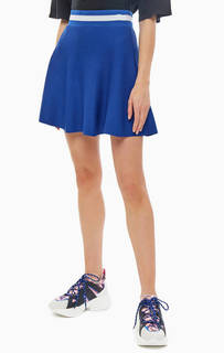 Короткая трикотажная юбка расклешенного кроя Pinko