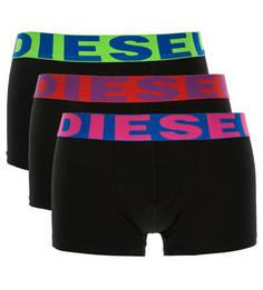 Комплект из трех черных трусов-боксеров Diesel