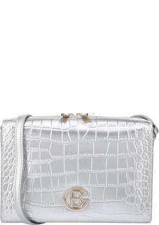 Кожаная сумка с выделкой под рептилию Becky Croco Baldinini