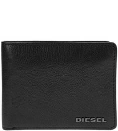Маленькое черное портмоне из натуральной кожи Diesel