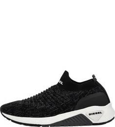 Летние черные кроссовки из текстиля Diesel