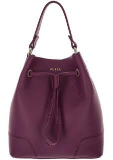 Маленькая кожаная сумка с одним отелом Stacy Furla