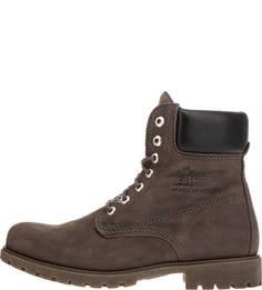 Серые ботинки из нубука Panama Jack