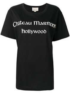 Gucci футболка с принтом Chateau Marmont