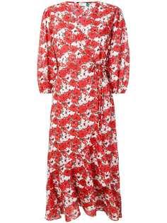 Rixo London платье с запахом и цветочным принтом