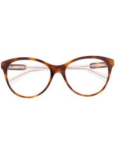 Gucci Eyewear солнцезащитные очки с эффектом черепашьего панциря
