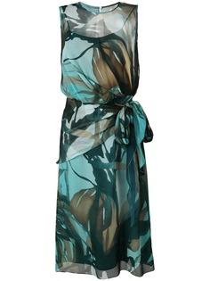 Max Mara платье без рукавов с принтом