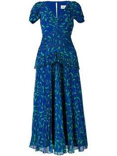 Self-Portrait длинное плиссированное платье со вставками