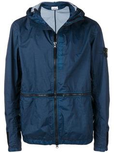 Stone Island куртка на молнии с контрастной отделкой