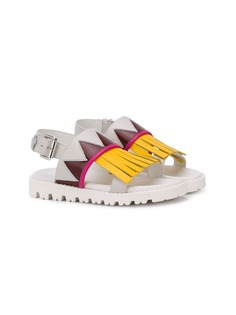 Marni Kids сандалии с бахромой