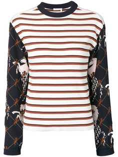 Chloé свитер в полоску и рубчик