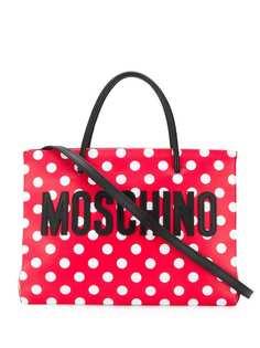 Moschino сумка-тоут в горох