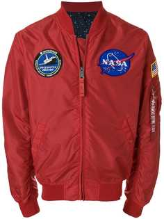 Alpha Industries куртка-бомбер с нашивками Nasa