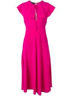 Rochas расклешенное платье с воротником
