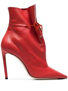 Jimmy Choo red stitch 100 leather boots