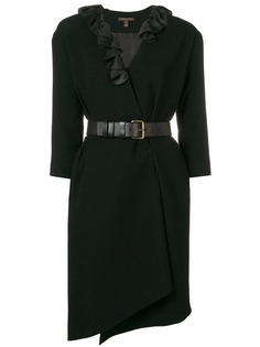 Louis Vuitton Vintage ruffled belted dress