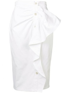 Max Mara юбка-карандаш с оборками