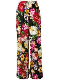 Dolce & Gabbana широкие брюки с цветочным принтом