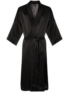 Edward Crutchley атласный халат с вышивкой