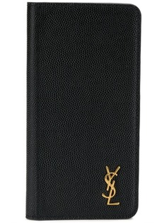 Saint Laurent чехол для iPhone X с откидным клапаном и логотипом