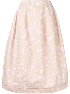 Marni пышная юбка с принтом