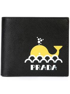 Prada бумажник с логотипом