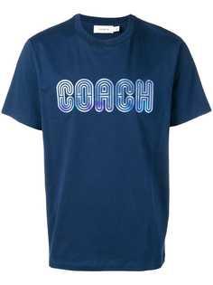 Coach футболка с вышитым логотипом