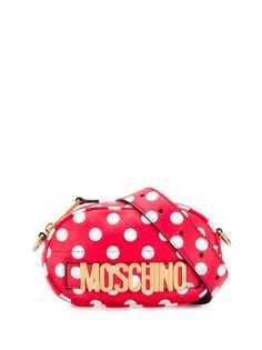 Moschino поясная сумка в горох