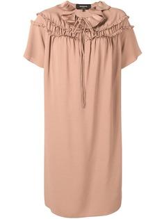 Rochas платье трапеция с оборками