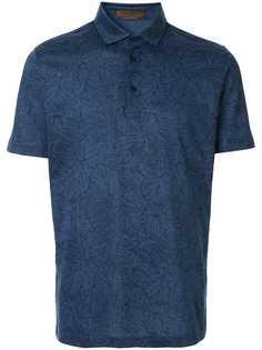 Corneliani рубашка-поло с цветочным принтом