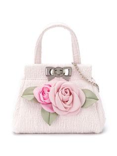 Monnalisa сумка с цветочной аппликацией