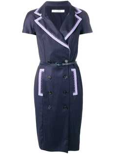 Christian Dior Vintage 2000s fitted pinstripe dress