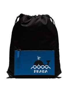 Prada рюкзак на шнурке с принтом