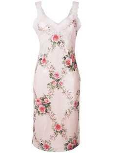 Blumarine кружевное платье Rosato