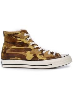 Converse высокие кроссовки Chuck 70 с камуфляжным принтом