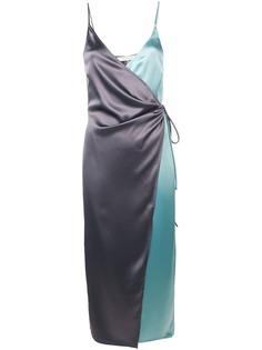 Ssheena атласное платье с запахом